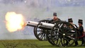 Guns are fired during the King's Troop Royal Horse Artillery Royal 41-gun salute to mark the start of Queen Elizabeth's Blue Sapphire Jubilee year at Green Park in central London, Britain, February 6, 2017. reuters