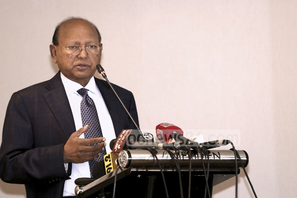 Commerce Minister Tofail Ahmed addresses a workshop on GSP facilities for Bangladesh products in the European Union at a Dhaka Hotel on Tuesday.