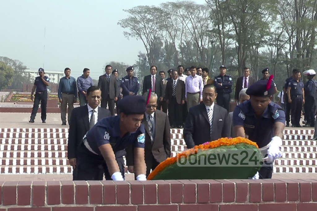 The Kazi Rakibuddin Ahmad-led EC is on the verge of completion of its five-year term. Rakibuddin, flanked by colleagues from the constitutional body, lay floral tributes at the National Memorial in Savar on Tuesday.