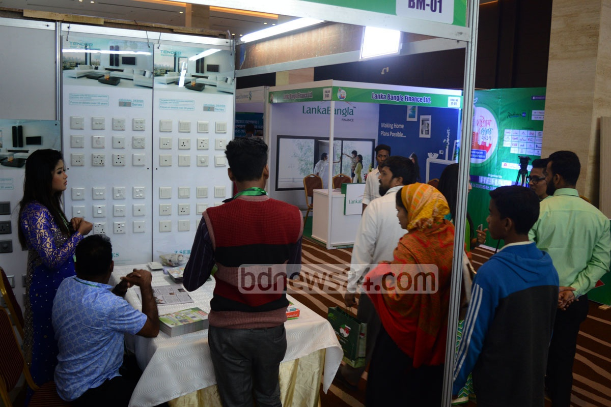 Visitors check out stalls at the Rehab Fair 2017 at the Radisson Blu Bay View Hotel in Chittagong on Wednesday. Photo: suman babu