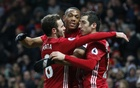 Man United ease past Watford to reach points landmark