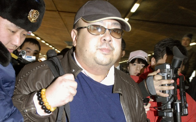 Kim Jong Nam arrives at Beijing airport in Beijing, China, in this photo taken on Feb 11, 2007. Photo: Kyodo via Reuters