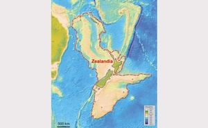 An illustration provided to Reuters February 18, 2017 shows what geologists are calling Zealandia, a continent two-thirds the size of Australia lurking beneath the waves in the southwest Pacific. GNS Science Research Institute via Reuters