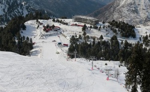 A general view shows a hotel under construction and the ski resort in Malam Jabba, Pakistan Feb 7, 2017. Reuters