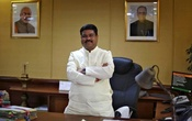 Oil Minister Dharmendra Pradhan poses after an interview with Reuters in New Delhi, India, May 5, 2016. Reuters