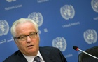 FILE PHOTO - Russian ambassador to the United Nations Vitaly Churkin speaks during a news conference at the UN headquarters in New York September 2, 2015. Reuters