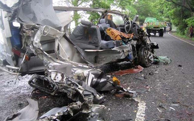 Five persons were killed while four others were injured in the road crash.