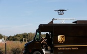 A drone demonstrates delivery capabilities from the top of a UPS truck during testing in Lithia, Florida, US Feb 20, 2017. Reuters