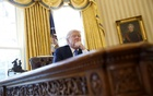 U.S. President Donald Trump pauses during an an interview with Reuters in the Oval Office at the White House in Washington, U.S., February 23, 2017. Reuters