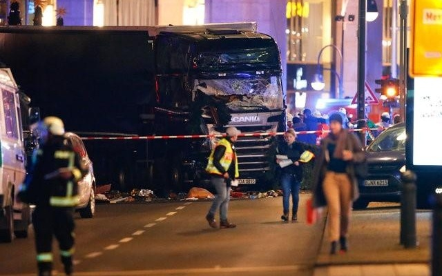 One dead as man drives into crowd in German town