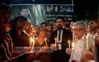 Remembering freethinkers in candle-lit vigil - Ganajagaran Mancha organised the programme at Shahbagh on writer-blogger Avijit Roy's second death anniversary on Sunday.