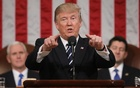 US President Donald Trump delivers his first address to a joint session of Congress from the floor of the House of Representatives in Washington, US, Feb 28, 2017. Reuters