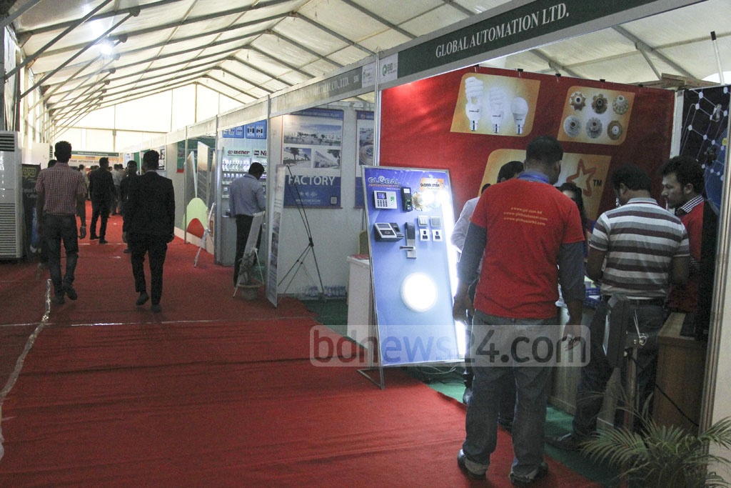 Spectators viewing a stall at the three-day long BIID Expo at the Bangabandhu International Conference Centre on Friday. Photo: asif mahmud ove