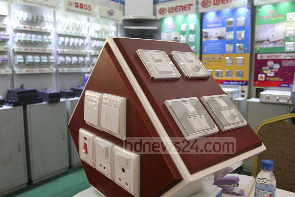 A stall at the BIID Expo in Bangladesh in at the Bangabandhu International Conference Centre on Friday. Photo: asif mahmud ove