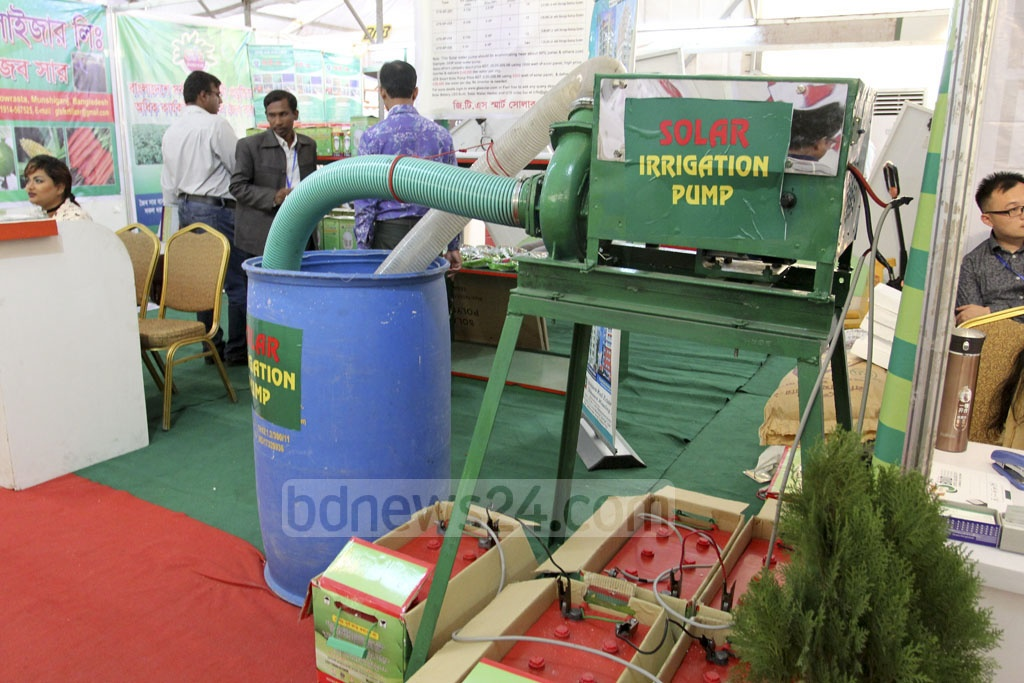 A range of technology is on display at the BIID Expo in Bangladesh in at the Bangabandhu International Conference Centre on Friday. Photo: asif mahmud ove