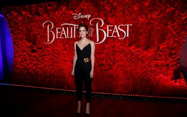 Cast member Emma Watson poses at the premiere of ''Beauty and the Beast'' in Los Angeles, California, US, Mar 2, 2017. Reuters