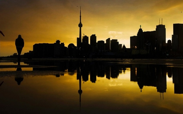A general view of Toronto City at dawn. Reuters