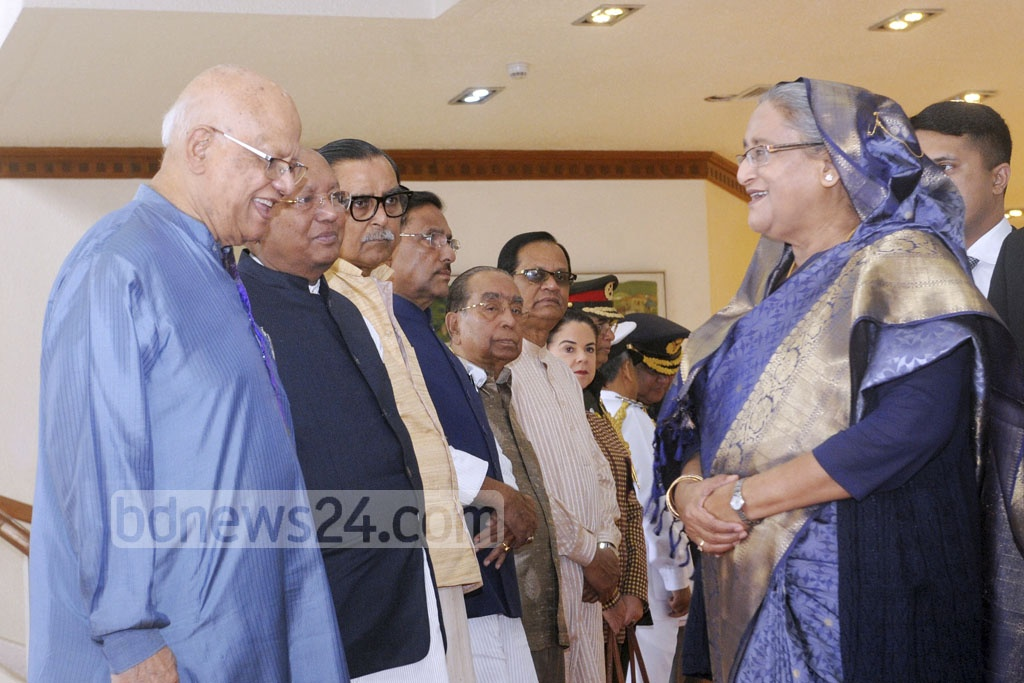 Cabinet members and top officials saw Prime Minister Sheikh Hasina off at Shahjalal International Airport in Dhaka on Monday on her departure to Indonesia.
