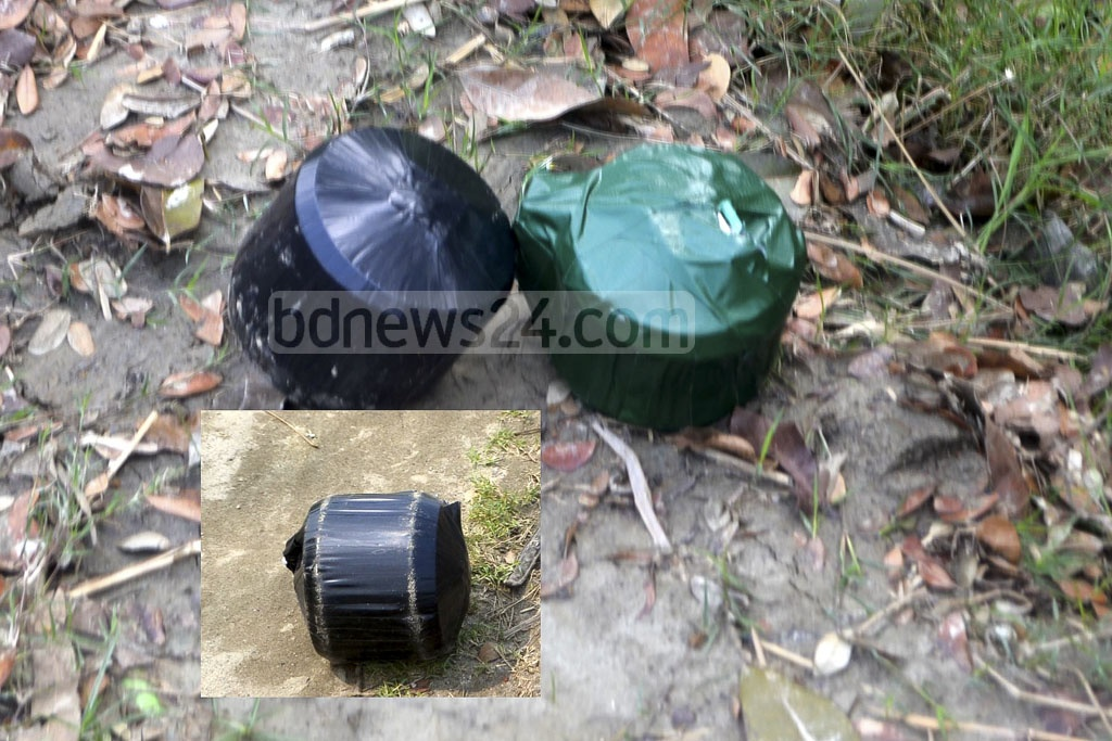 The home-made bombs were recovered from suspected militants who attacked police at security check point at Chandina Upazila of Comilla on the Dhaka-Chittagong Highway.