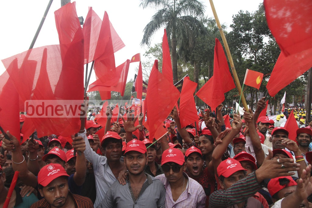 Activists attend Saturday's Suhrawardy Udyan rally of Inu-led JaSoD.