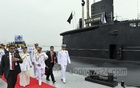 Bangladesh enters new naval era: Prime Minister Sheikh Hasina is having a close look at one of the two China-made 035G diesel-electric submarines - BNS Nabajatra and BNS Joyjatra - inducted and commissioned into Bangladesh Navy fleet during her visit to the Issa Khan Naval Base in Chittagong on Sunday. Photo: PID