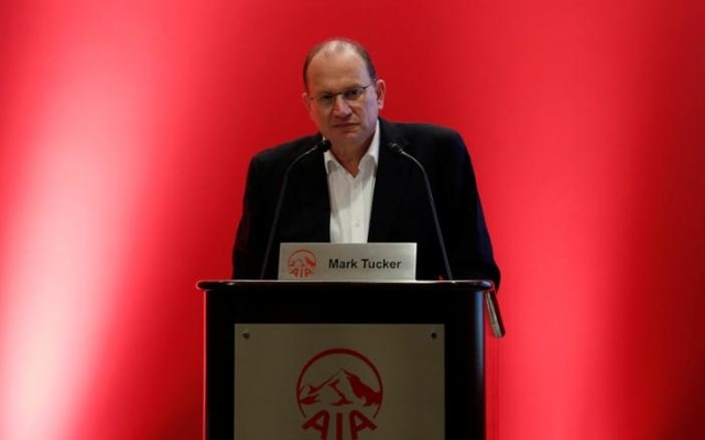 AIA Group Chief Executive and President Mark Tucker attends a news conference on the company's annual results in Hong Kong, China Feb 24, 2017. Reuters