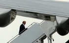 US President Donald Trump boards Air Force One to return to Washington, after spending the weekend at the Mar-a-Lago Club, from Palm Beach International Airport in West Palm Beach, Florida, US Mar 5, 2017. Reuters