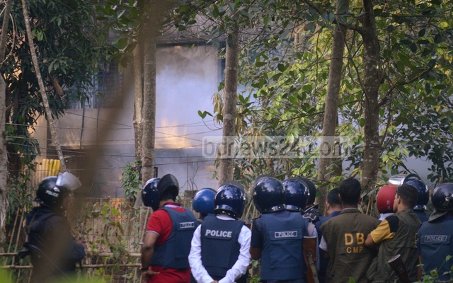 Police said militants triggered a suicide blast during the raid at Chittagong's Sitakunda Upazila town to avoid being captured.