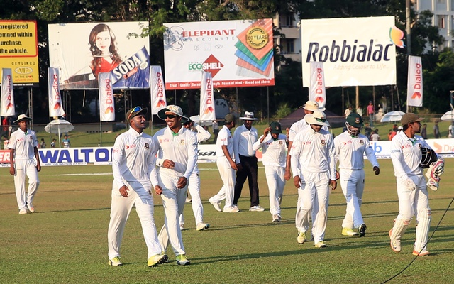 Bangladesh beat Sri Lanka by four wickets in second Test at Colombo