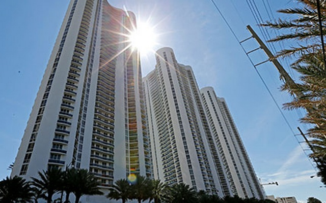 From left, Trump Towers I, II and III in Sunny Isles Beach. Reuters