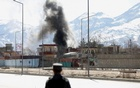 Smoke rises from the site of a blast and gunfire between Taliban and Afghan forces in PD 6 in Kabul, Afghanistan Mar 1, 2017. Reuters