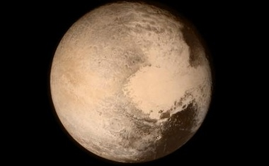 Pluto nearly fills the frame in this image from the Long Range Reconnaissance Imager (LORRI) aboard NASA's New Horizons spacecraft, taken on Jul 13, 2015 when the spacecraft was 476,000 miles (768,000 kilometres) from the surface. Reuters