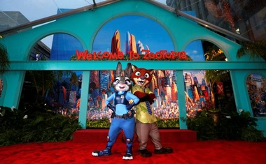 The characters of Judy Hopps and Nick Wilde pose at the premiere of ''Zootopia'' at El Capitan theatre in Hollywood, California Feb 17, 2016. Reuters