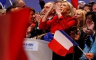Marine Le Pen, French National Front (FN) political party leader and candidate for French 2017 presidential election, attends a political rally in Lille, France, Mar 26, 2017. Reuters