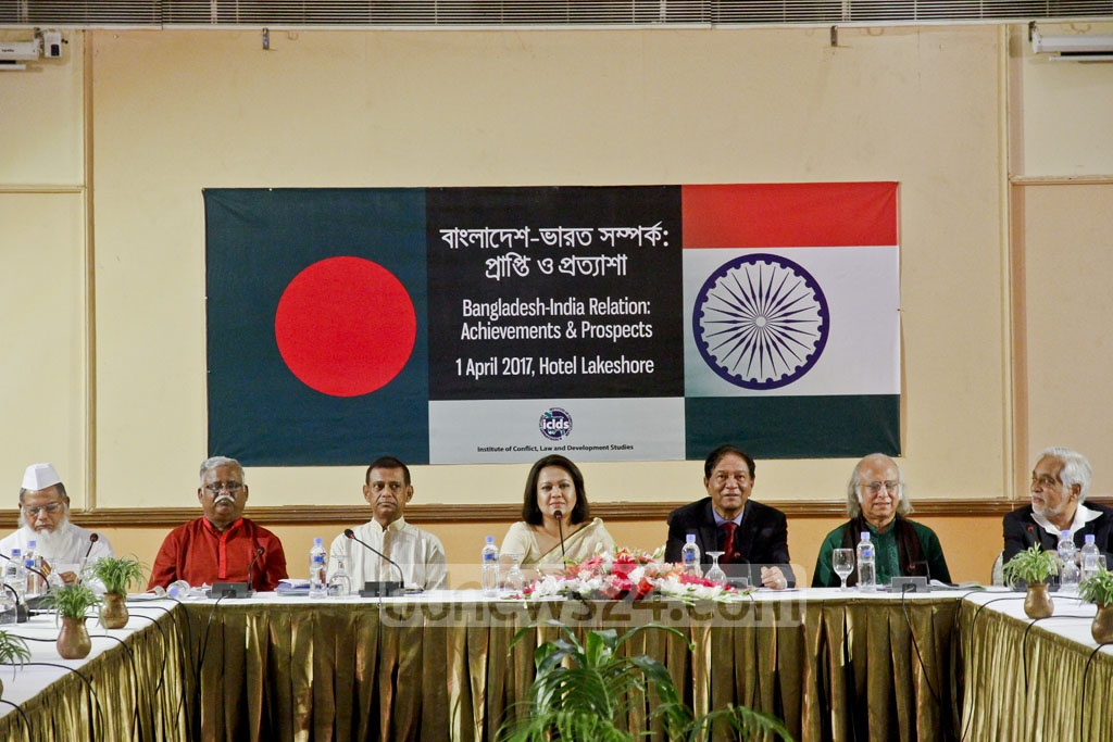 The Institute of Conflict, Law and Development holds a conference on Bangladesh-India relations at Dhaka's Lake Shore Hotel on Saturday, prior to Prime Minister Sheikh Hasina's trip. Photo: tanvir ahammed