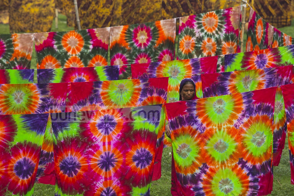 Most villagers in Bunty are into fabric printing, buoyed by good profits in small investments due to rising demand. Photo: mostafigur rahman