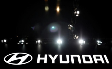 The logo of Hyundai Motor is seen during the 2017 Seoul Motor Show in Goyang, South Korea, March 31, 2017. Reuters