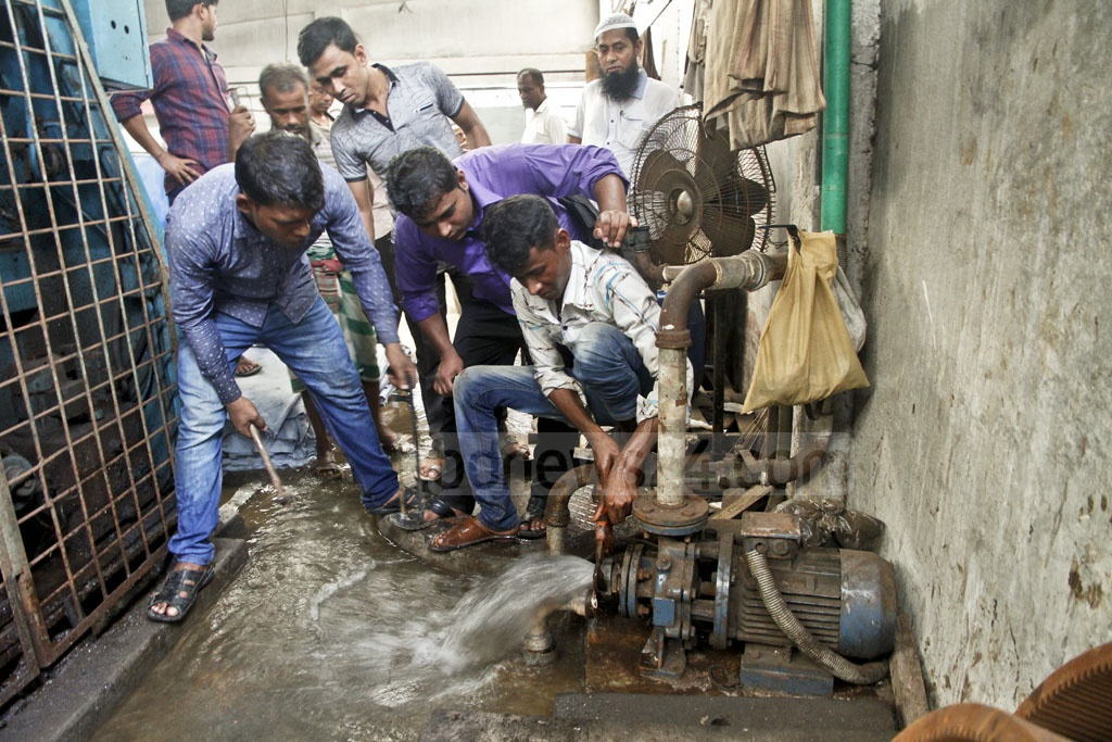 Water connections to the tanneries in the capital's Hazaribagh are being cut off on Saturday.
