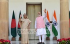 Sheikh Hasina met Narendra Modi during her New Delhi visit in 2017.