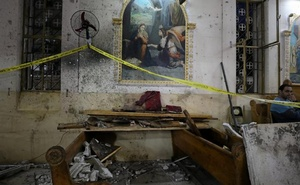 The aftermath of explosion at church in Tanta.