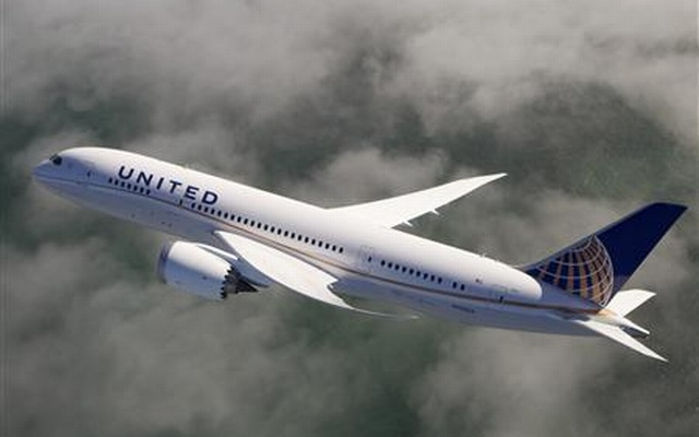 A United Airlines 787 Dreamliner is pictured in this undated handout photo. Reuters
