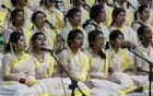 Chhaynaut's Pahela Baishakh programme at Ramna Batamul starts with Ragas welcoming the Bangla New Year on Friday.