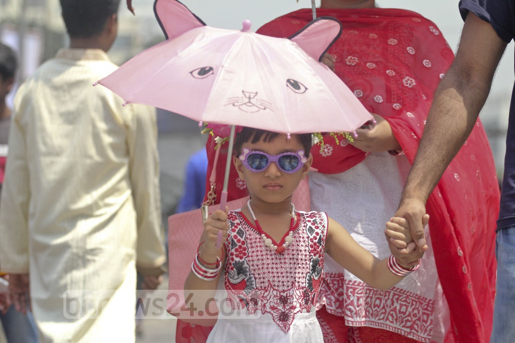 Children join the Bangla New Year celebrations. Photo: asif mahmud ove