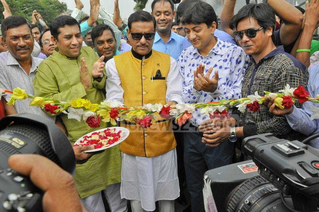 Road Transport Minister Obaidul Quader inaugurated on Wednesday privately owned Silkline Travels, a bus service on Dhaka, Chittagong and Cox's Bazar route.