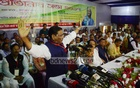 Awami League General Secretary Obaidul Quader speaks at a meeting of the party's Chittagong district (North) unit at a community centre in the port city on Saturday. Photo: suman babu