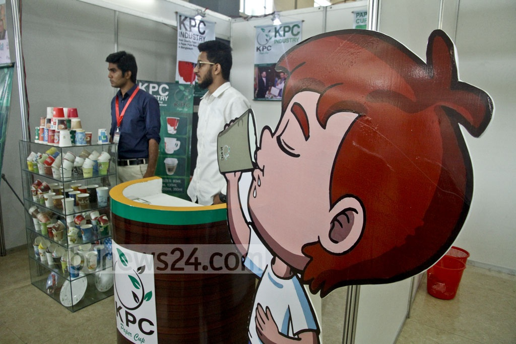 A stall of the 'Second Food and Agro, Agrocam cum Poultry and Livestock Bangladesh Expo-2017'. Photo: tanvir ahammed