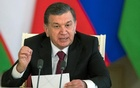 FILE PHOTO: Uzbek President Shavkat Mirziyoyev speaks during a news conference following his talks with Russian President Vladimir Putin (not pictured) in Moscow's Kremlin, Russia April 5, 2017. Reuters