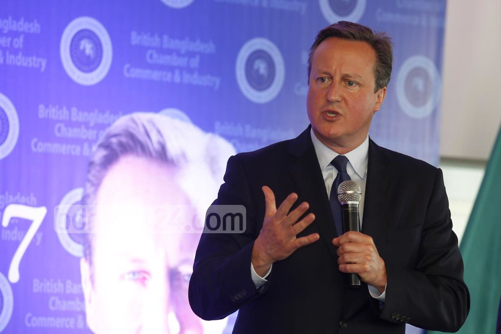 David Cameron says lack of democratic practices was also an alarming reality besides the threat of terror. He was speaking at a discussion titled 'Global Challenges 2017' in Gulshan on Thursday. Photo: mostafigur rahman