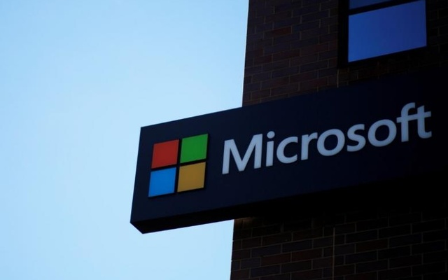 A sign marks the Microsoft office in Cambridge, Massachusetts, US Jan 25, 2017. Reuters