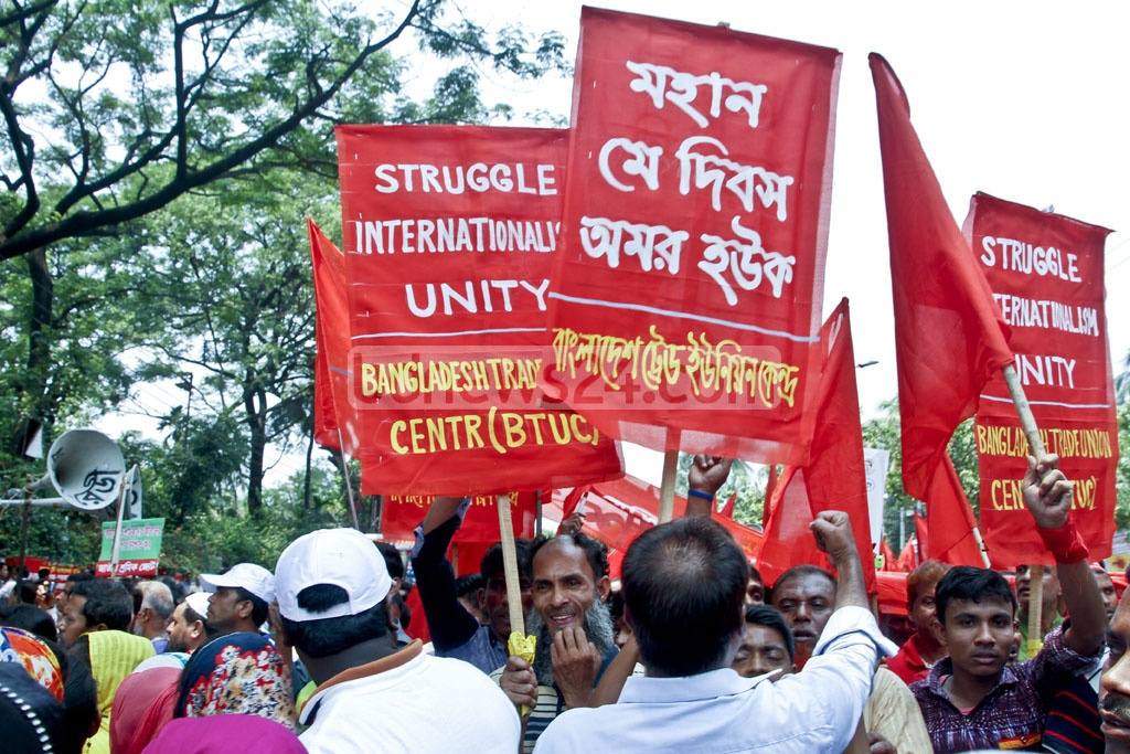 Bangladesh observes the historic May Day with the rest of the world on Monday with a pledge to protect workers' rights. Photo: tanvir ahammed